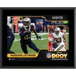 New Orleans Saints Marshon Lattimore Fanatics Authentic 2017 Defensive Rookie of the Year 10