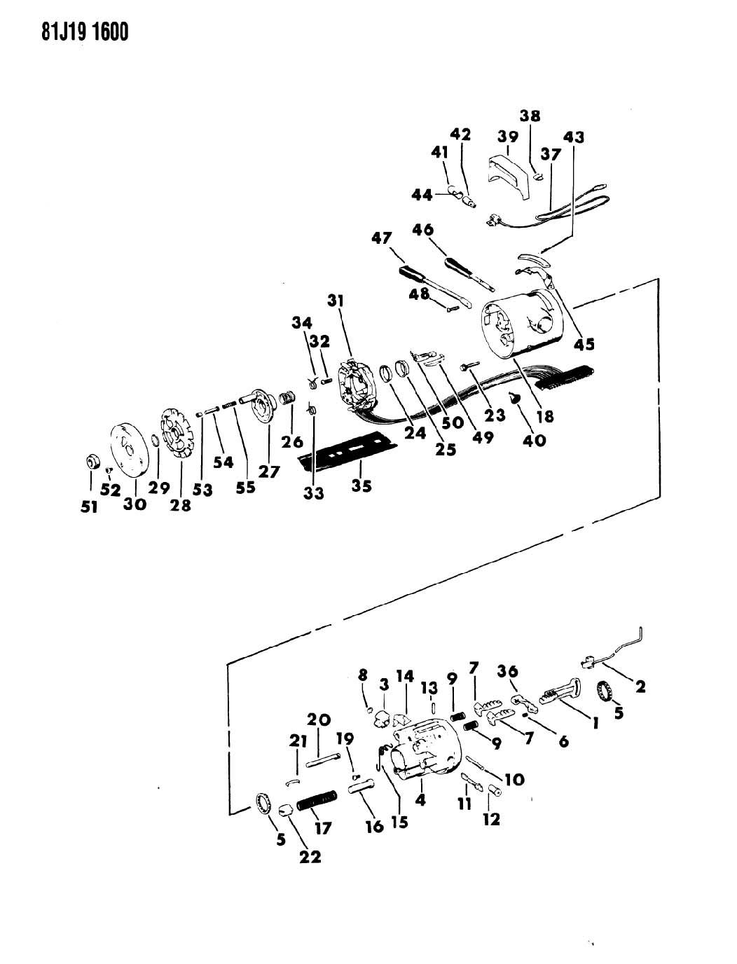 Housing Steering Column Upper With Column Shift With Tilt Wheel Cj 5 6 7 8 Scrambler