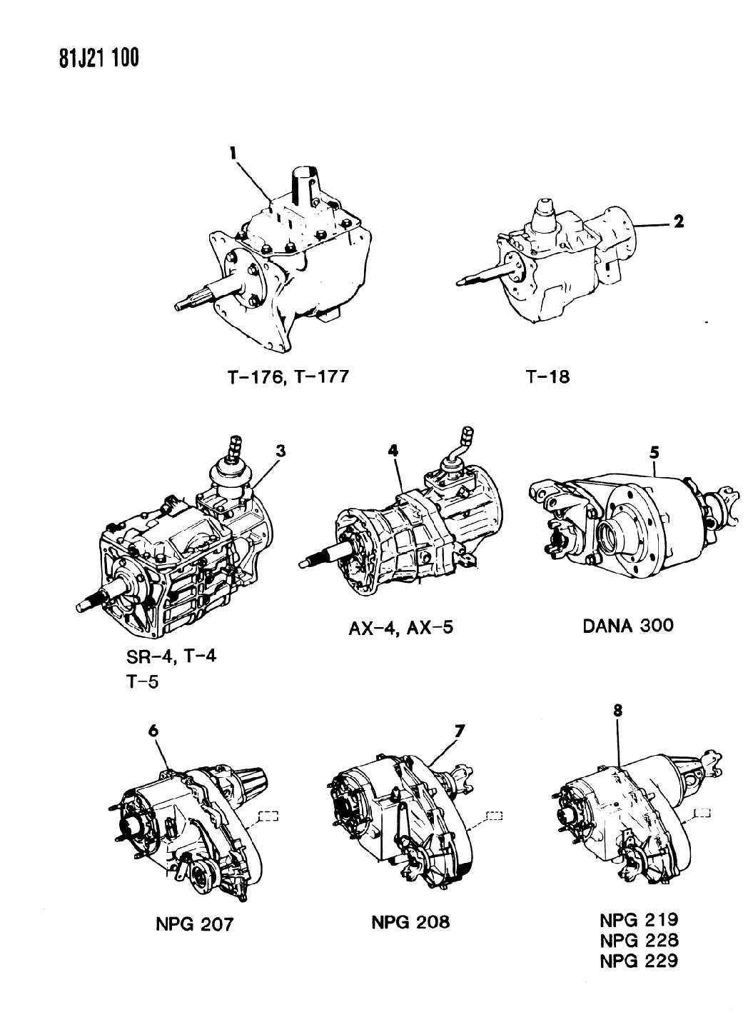 Jeep Wrangler Transfer Case Assembly Dana Model 300