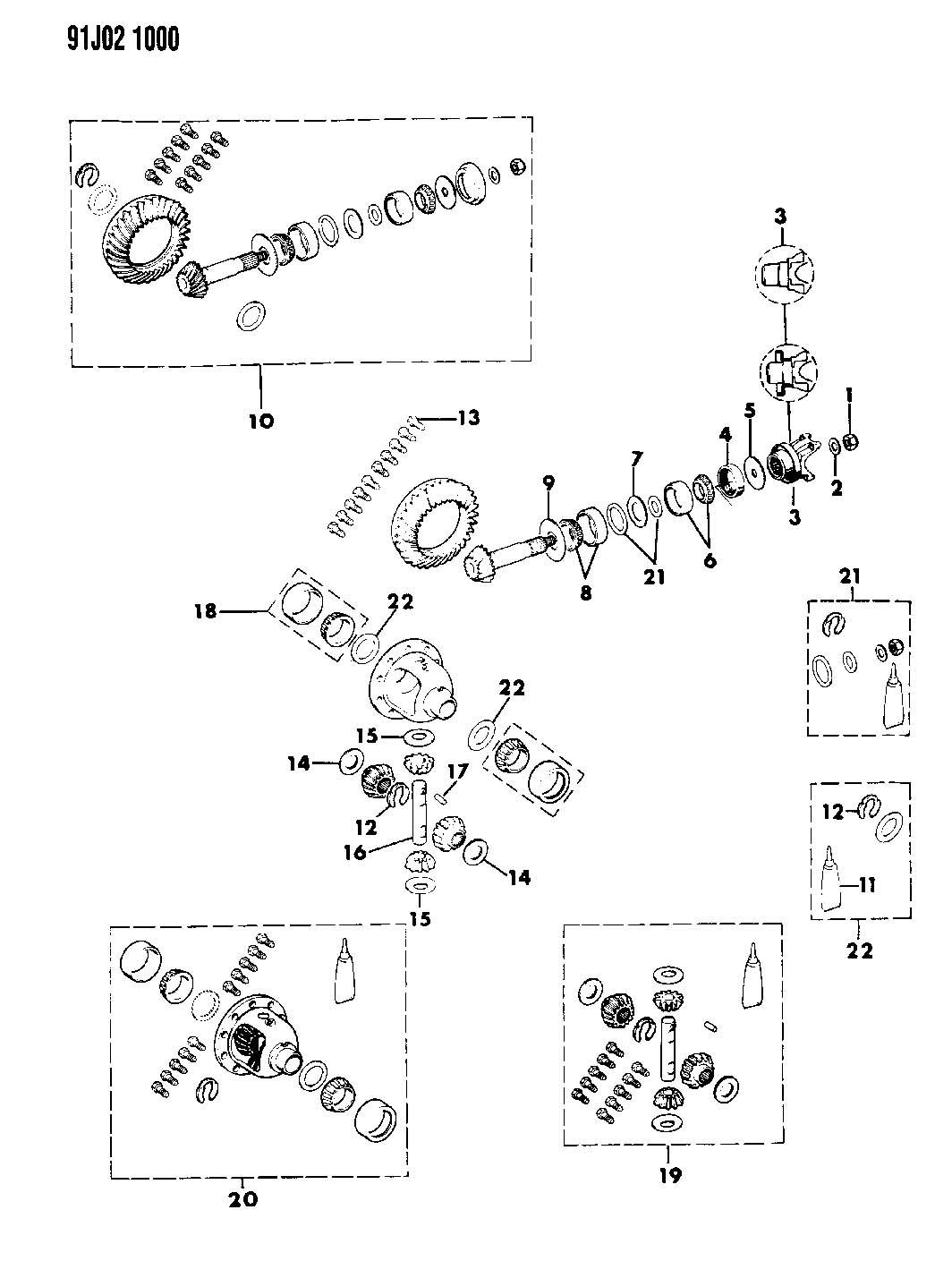 Jeep Wrangler Washer Thrust Flat Pinion Gear