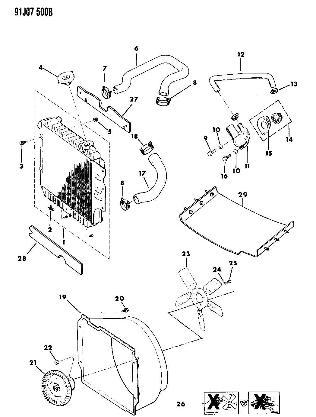 Jeep Wrangler Hose Radiator Radiator To Pump Lower