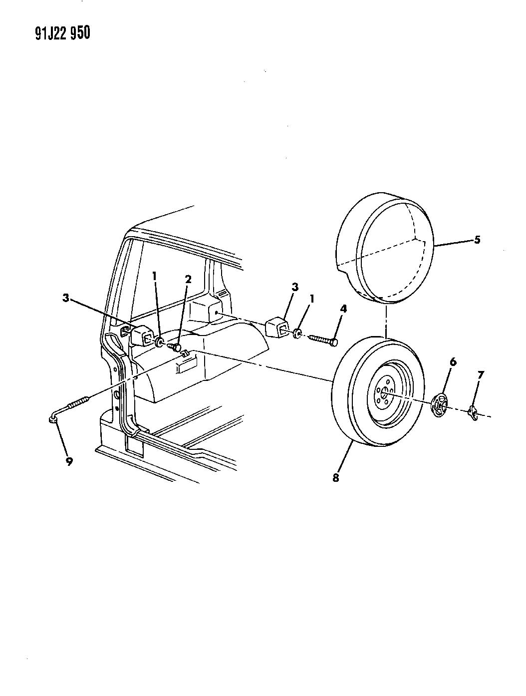 Jeep Grand Cherokee Wheel Spare Inside Mounting Grand