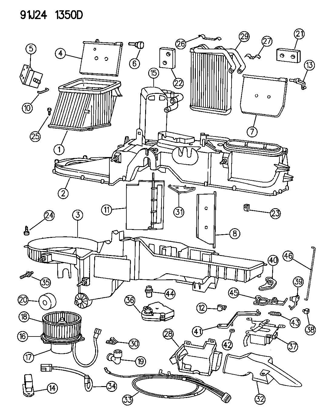 Air Conditioning Unit Air Conditioning Unit For Jeep