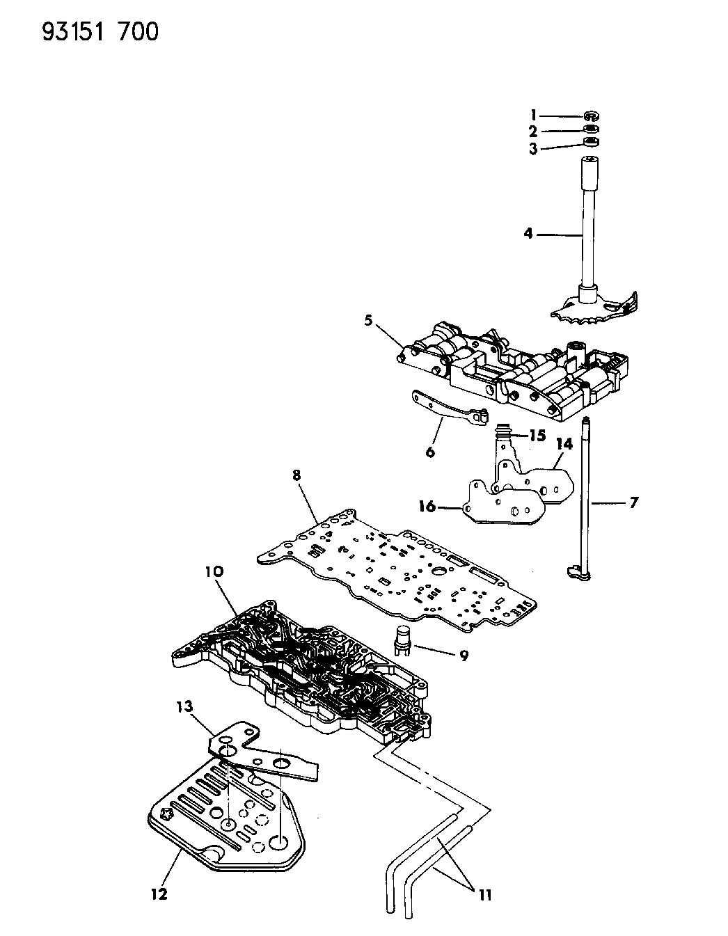 Chrysler Transmission Parts Catalog
