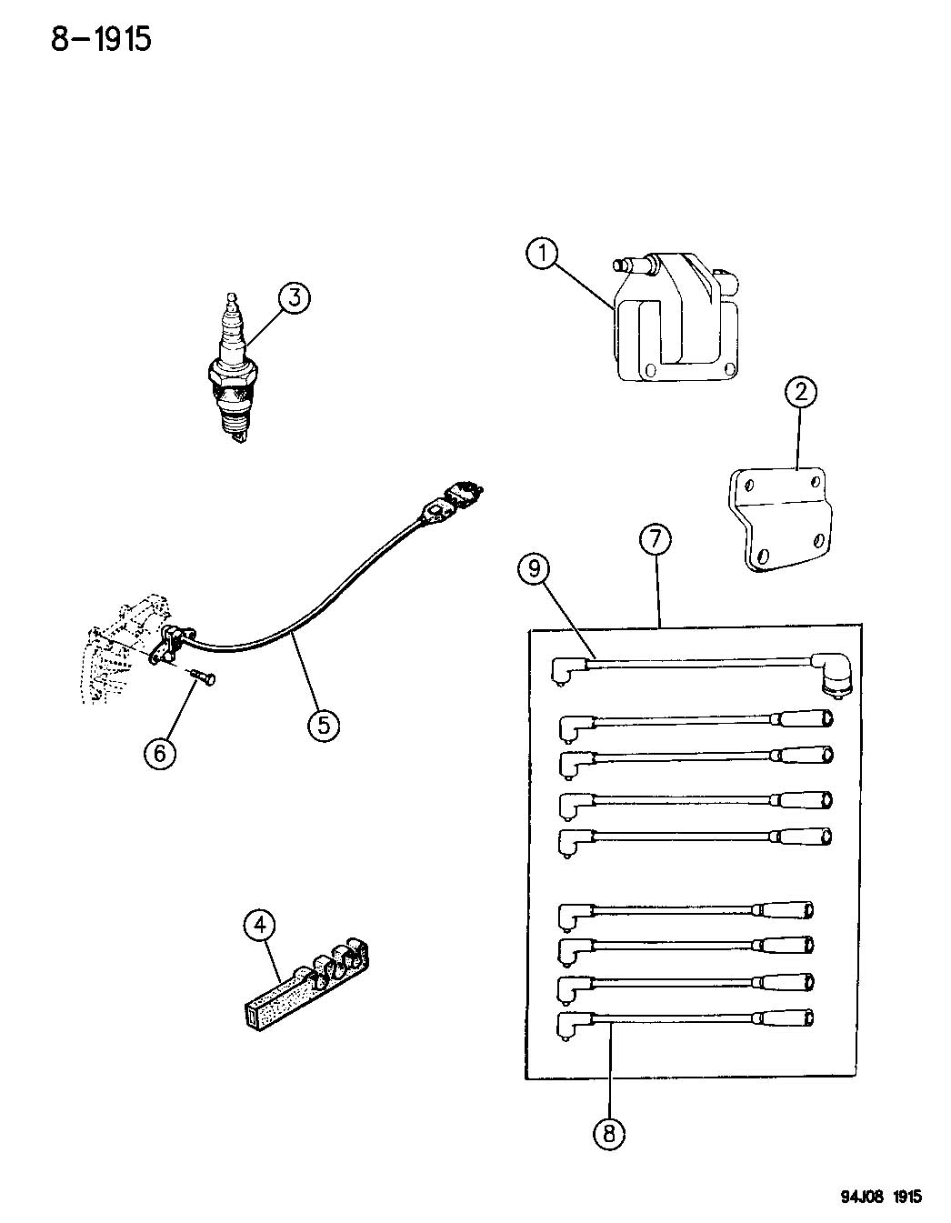 Jeep Grand Cherokee Coil Sparkplugs Wires 5 2 Engine