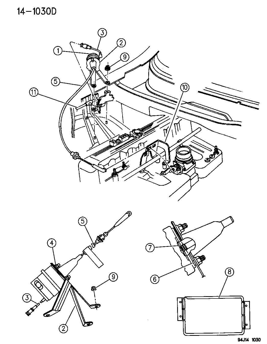 Jeep Reservoir Vacuum Cruise Controlselengine