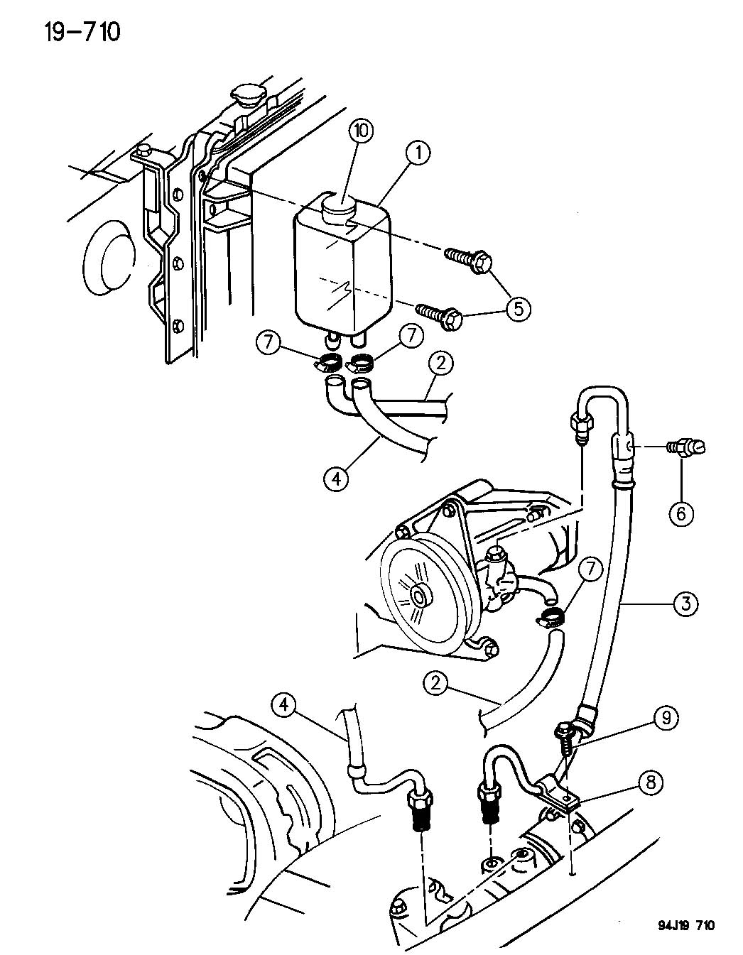 Jeep Yj Power Steering Reservoir