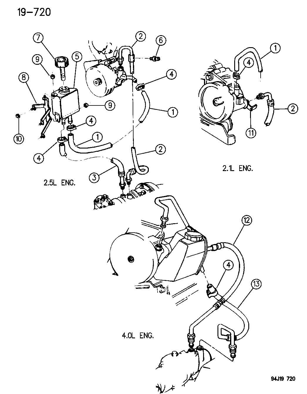 Jeep Wrangler Line Power Steering Pressure Sbc