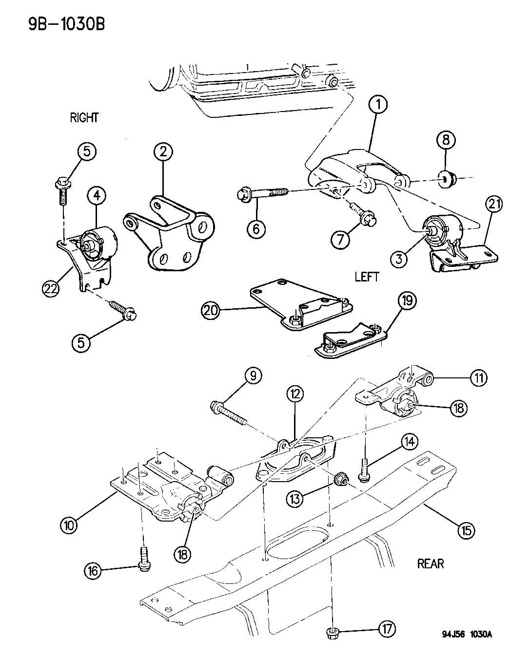 Jeep Grand Cherokee Insulator Left Engine Mount