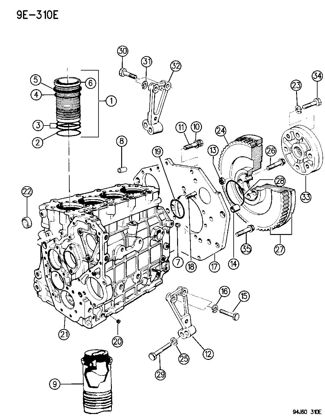 Cylinder Block And Supports 2 5lsel Engine
