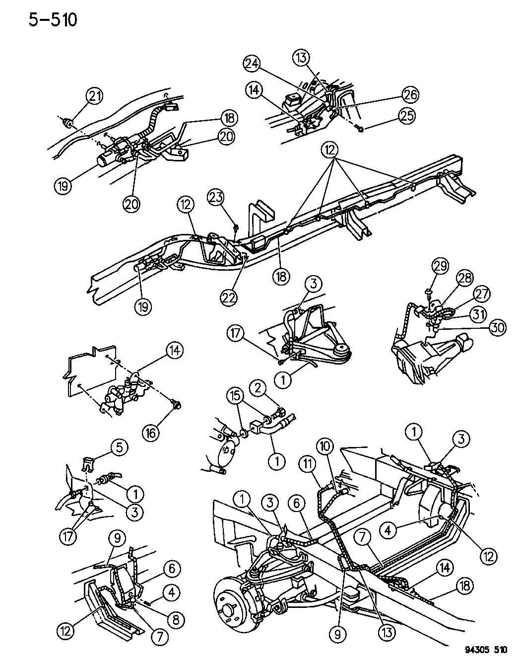 Dodge Dakota Wiring Wiring Assembly Anti Lock Brake