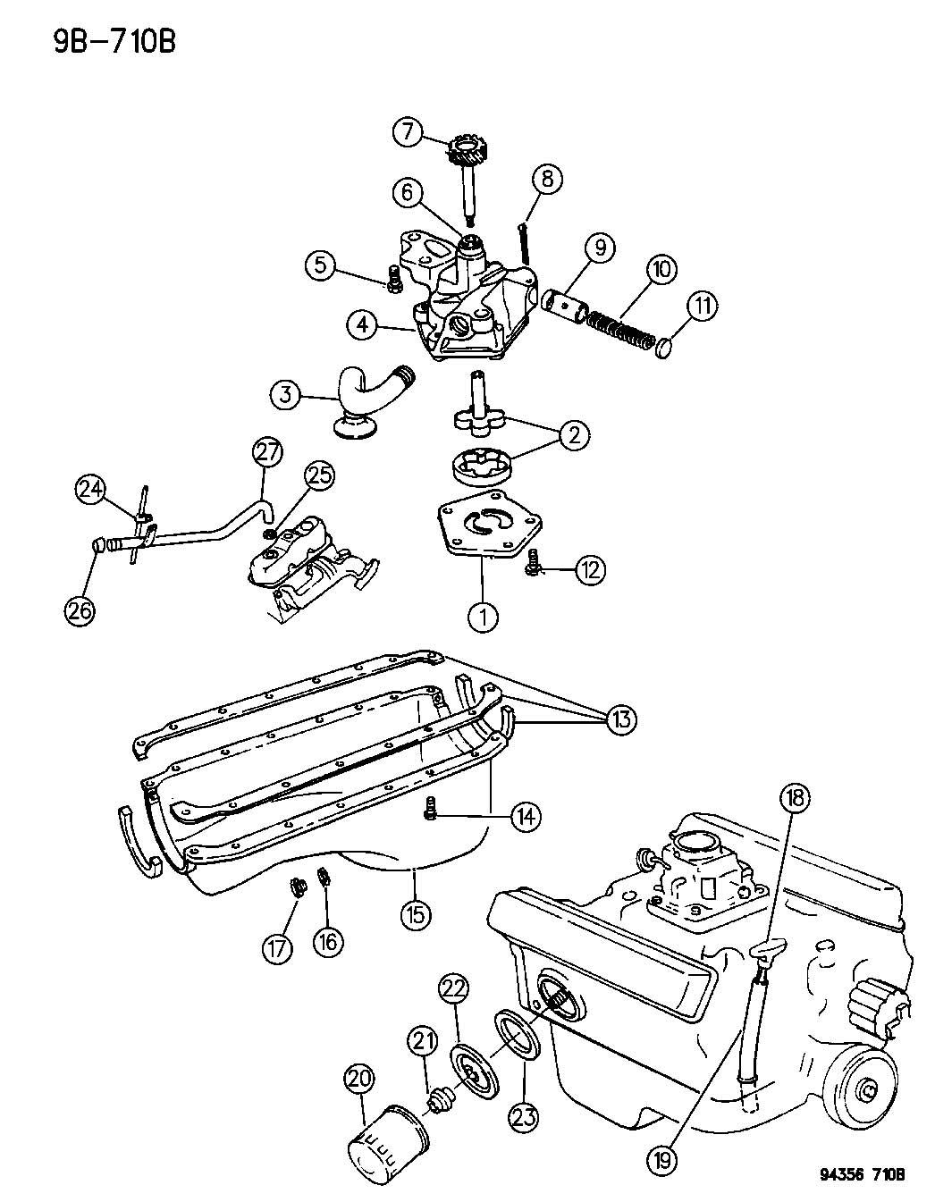 Dodge Durango Gasket Oil Filter Adapter Gasket Oil