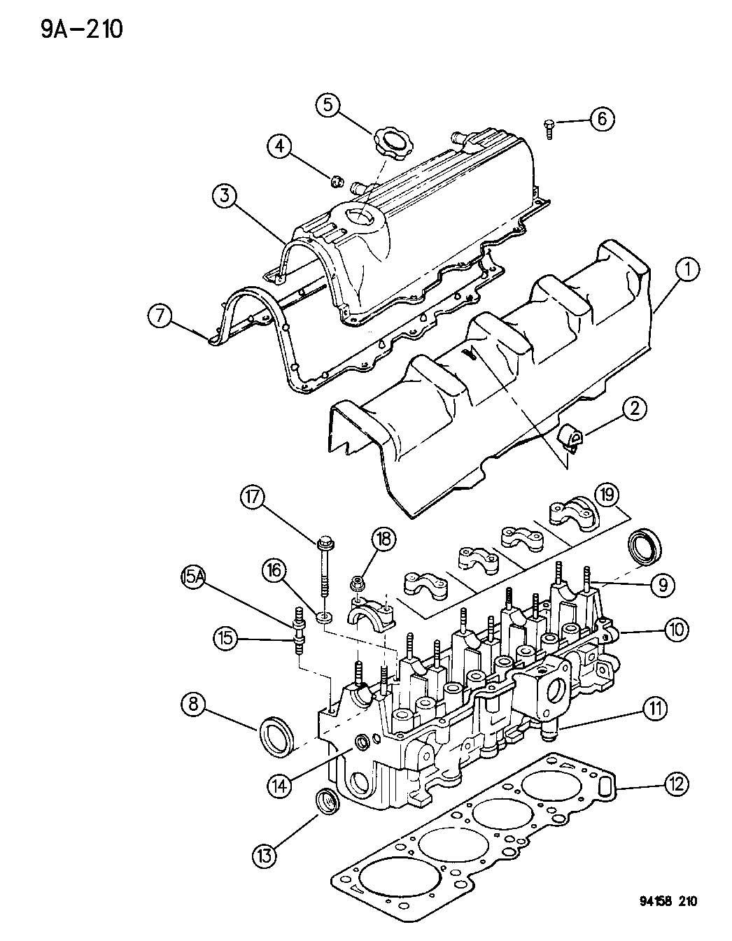 Chrysler Sebring Head Bolt Removal Diagram