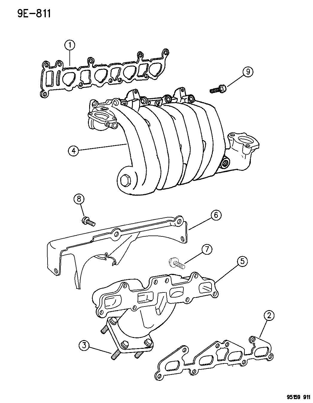 Dodge Neon Bolt Hex Head M8x1 25x35 Exhaust Manifold