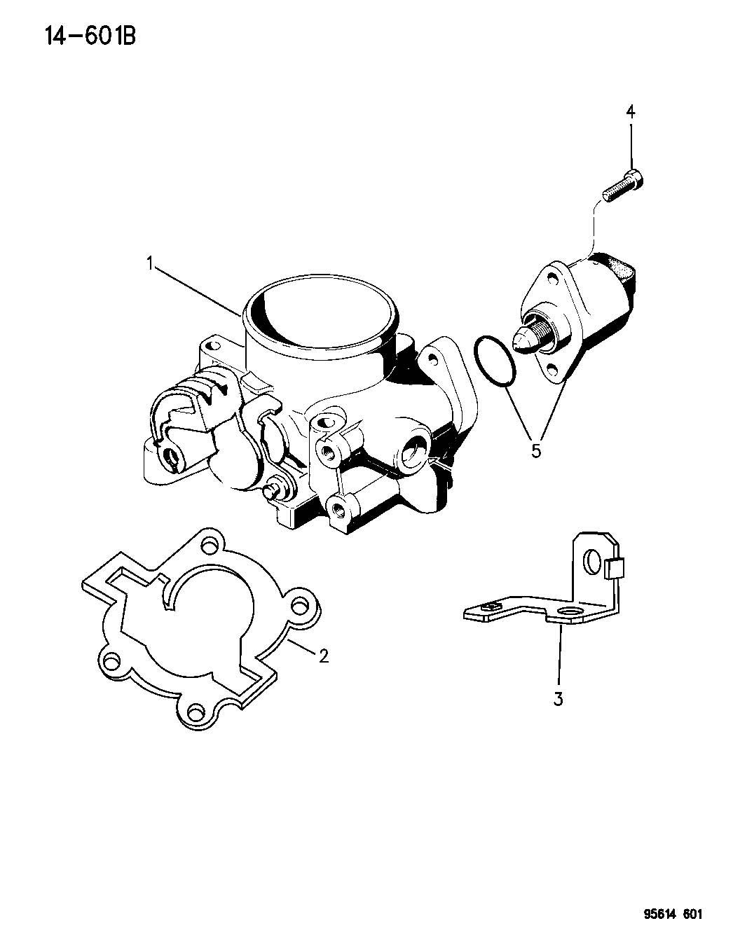 Chrysler Sebring Throttle Body Wout Ecf