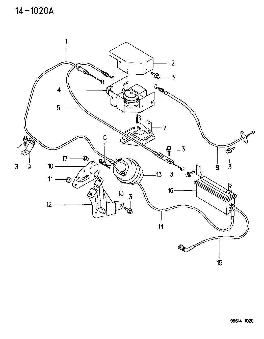 Chrysler Sebring Cable Throttle Control Accelerator
