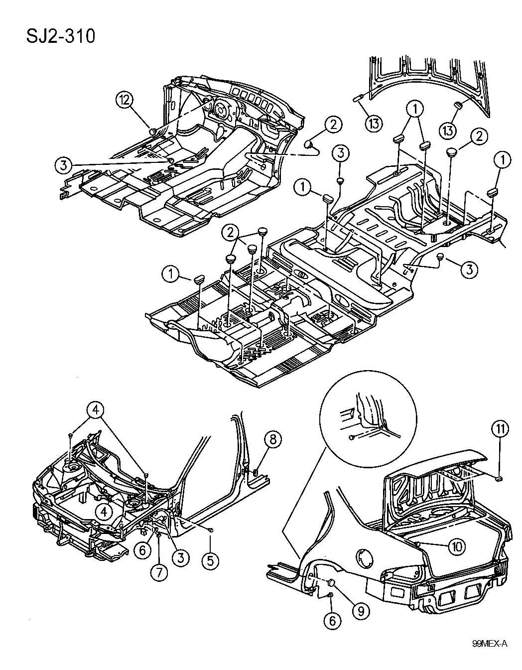 Jeep Wrangler Plug Access Hole Front Suspension 313