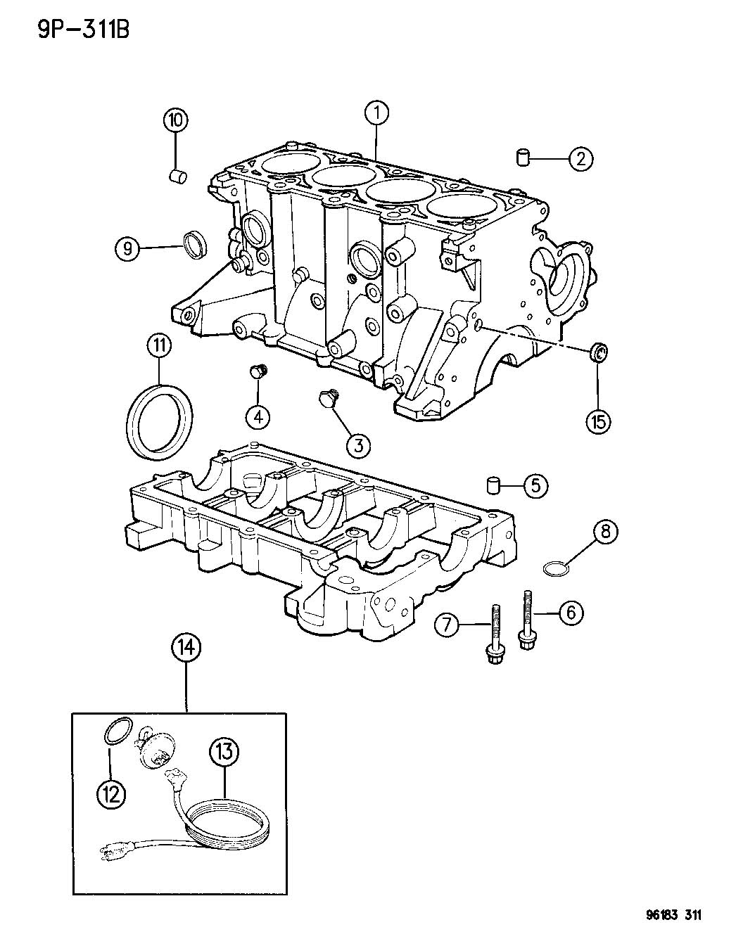 Chrysler Town Amp Country Plug Core Cylinder Block Oil