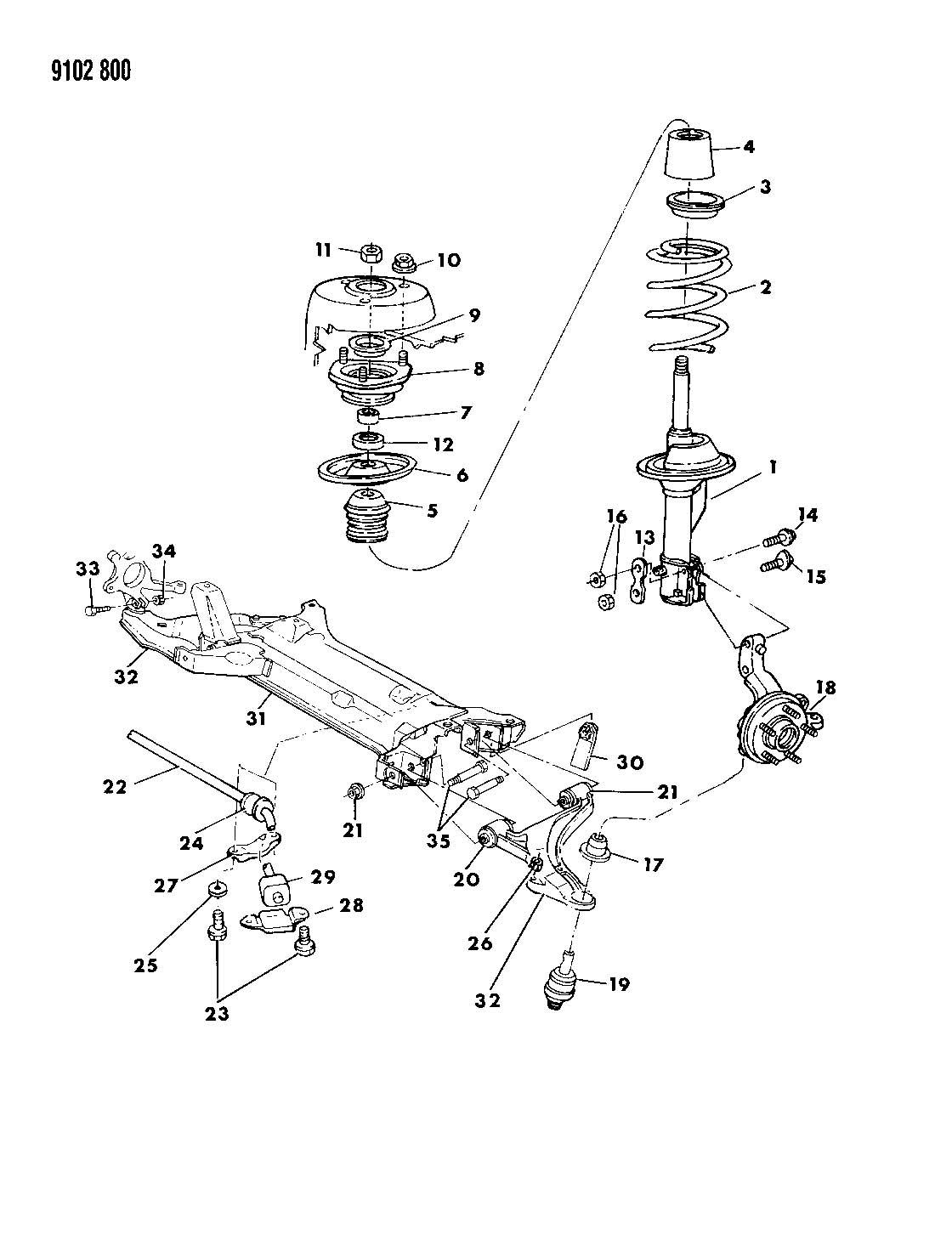 30 Pt Cruiser Front Suspension Diagram