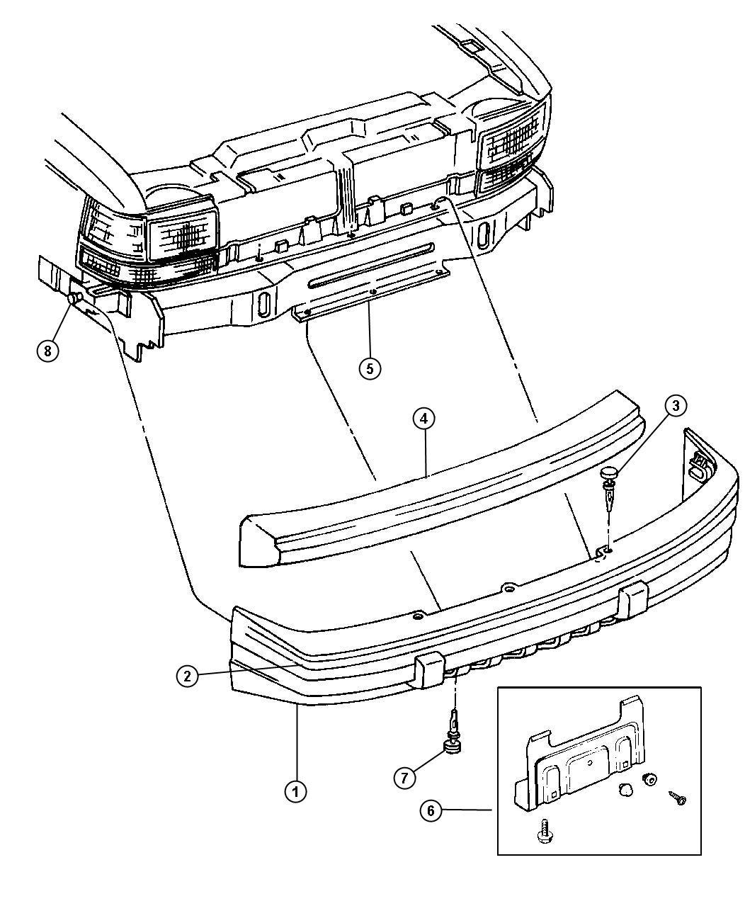 Jeep Grand Cherokee Front Bumper Diagram