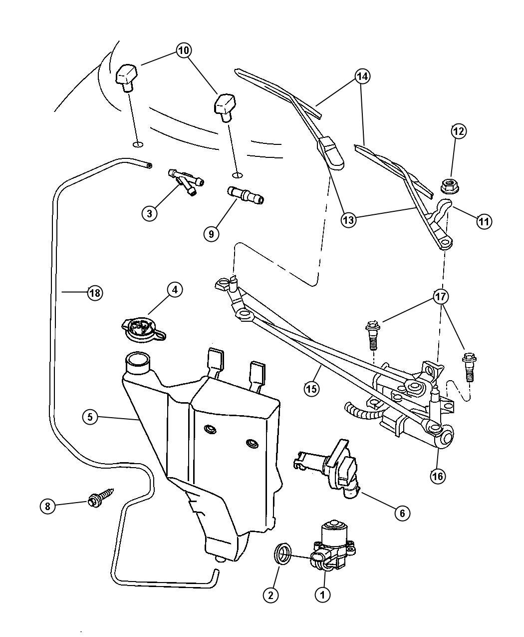 Windshield Wiper And Washer System
