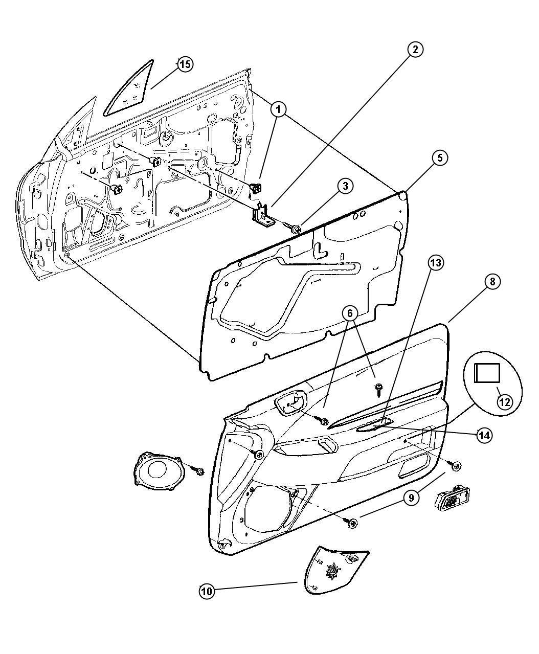 Chrysler Grille Right Speaker Trim O0 Color