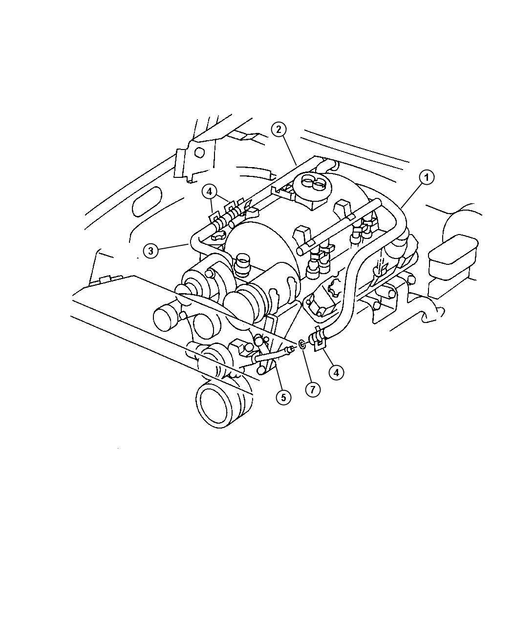 Dodge Durango Tube Water Pump Inlet Heater Return