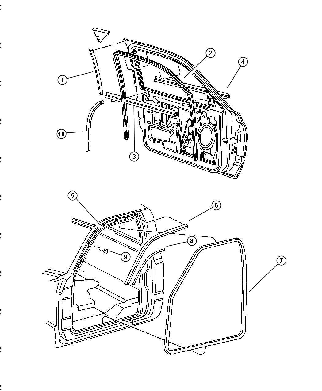 Dodge Ram Door Front Weatherstrips And Seals