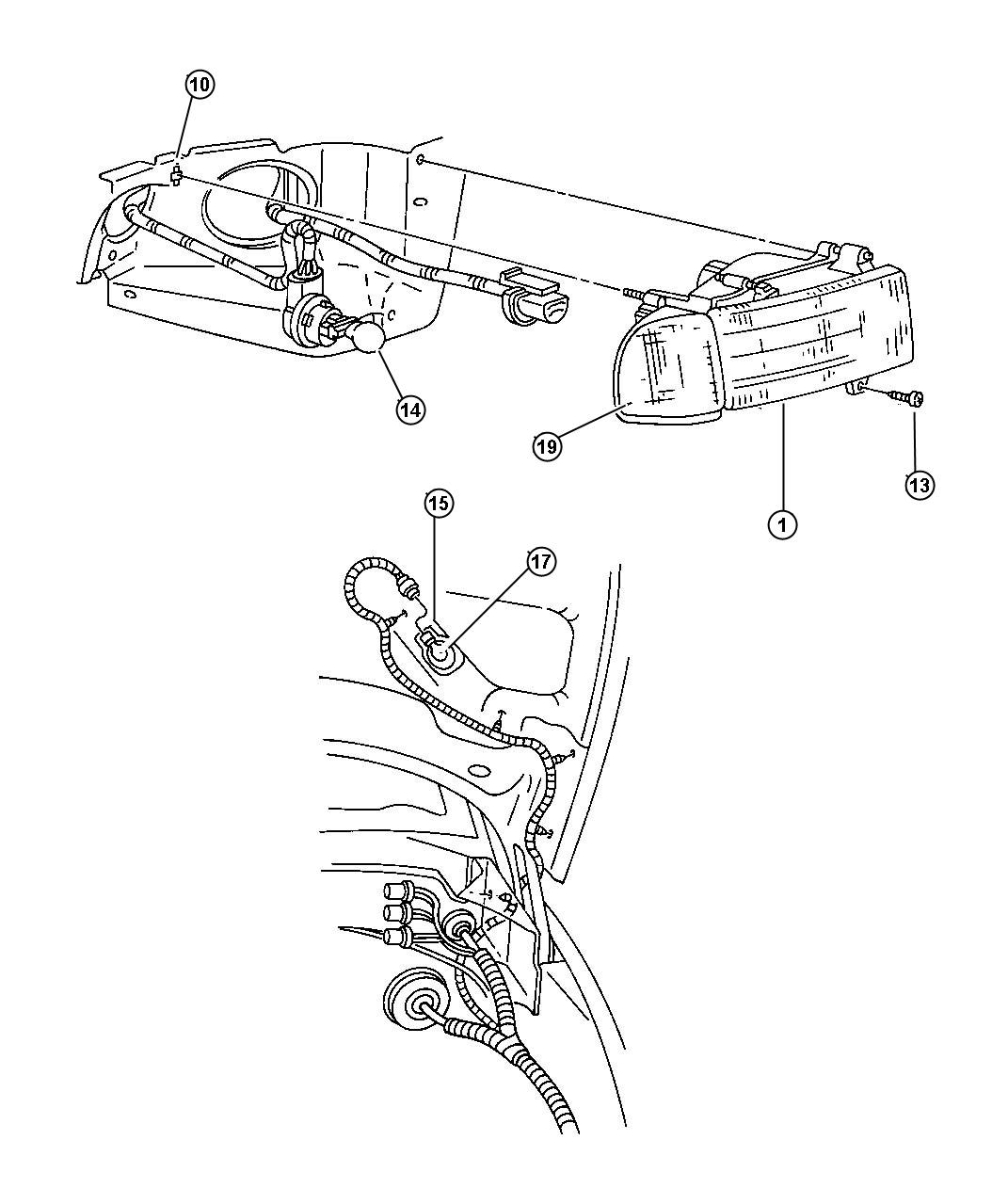 Dodge Ram Socket And Wiring Turn Signal Lamp