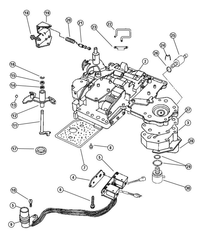 diagram of how a 1997 dodge neon transmission is removed