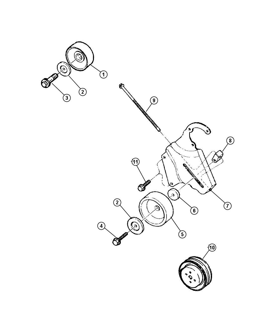 Jeep Wrangler Bolt Adjusting Bracket