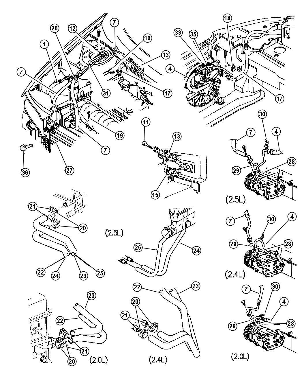 Chrysler Sebring Plumbing Heater Amp Air Conditioning