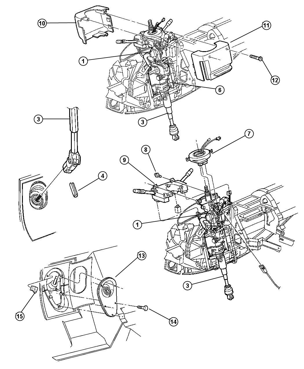 Service Manual Plymouth Breeze Tilt Steering Column