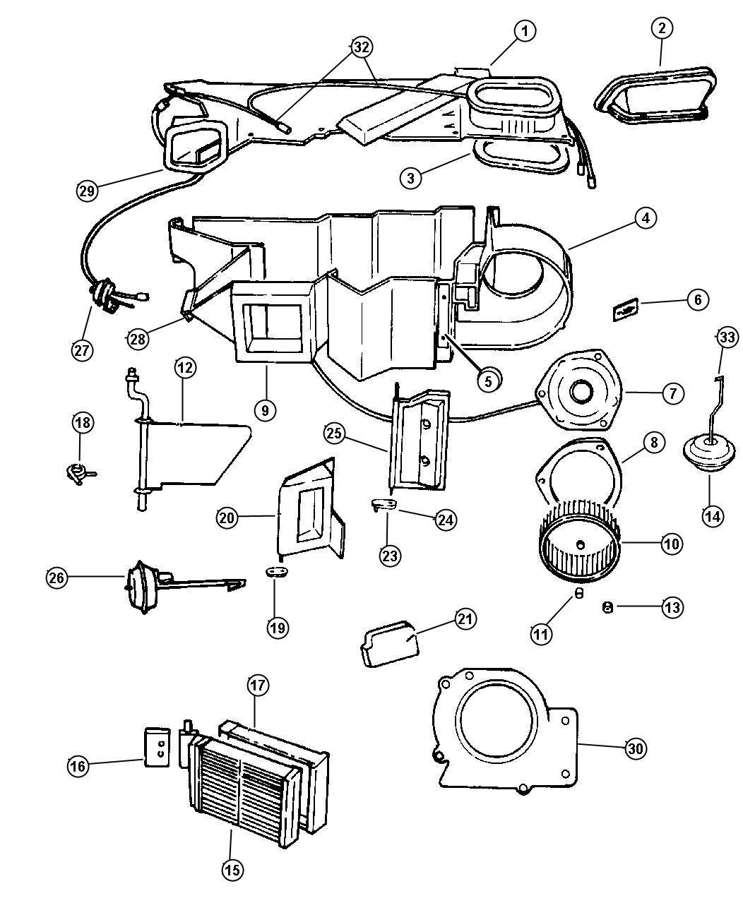 Chrysler Sebring Resistor Blower Motor