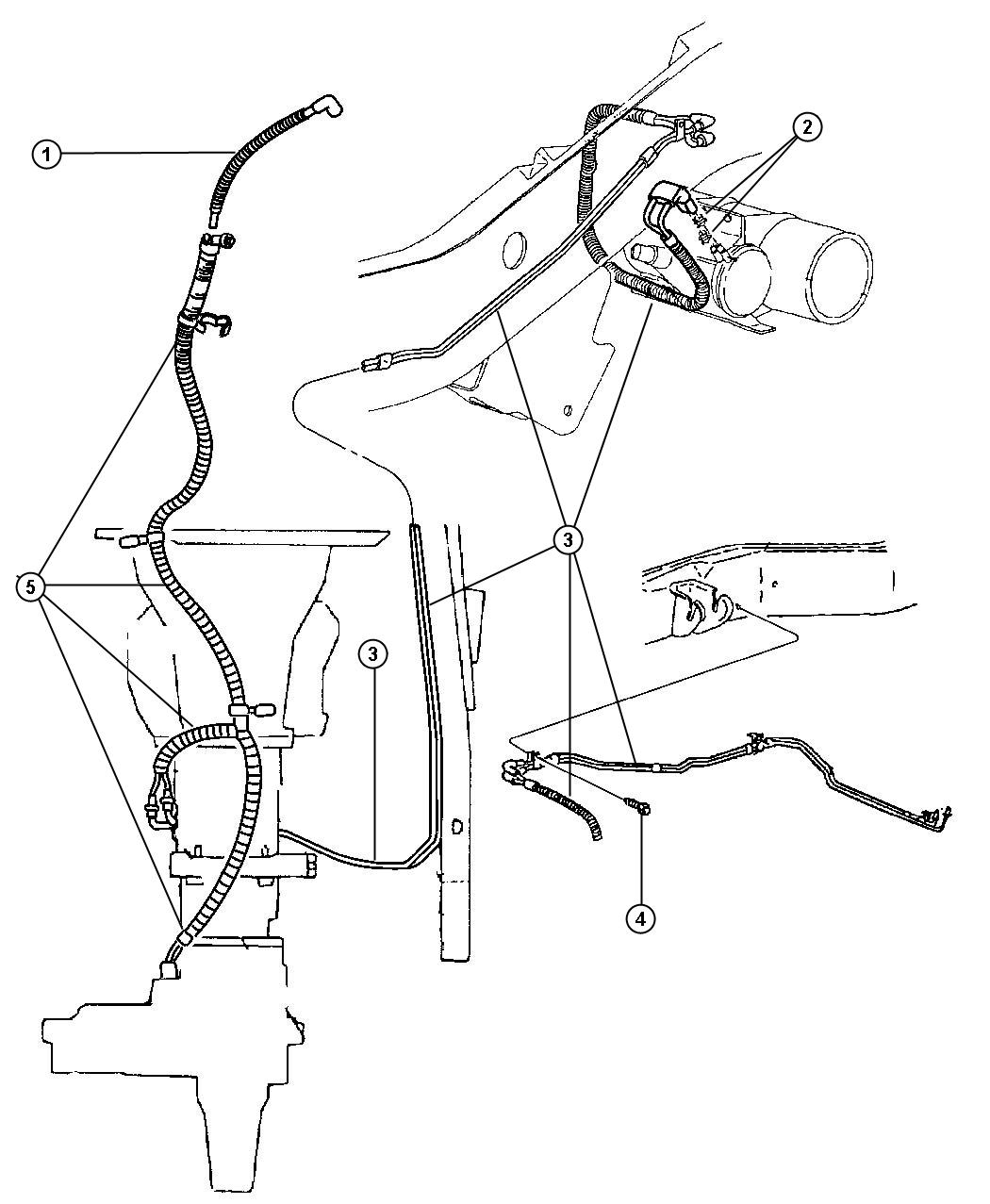 Dodge Ram 5 9l V8 Smpi 4 Spd Automatic 46re Vacuum