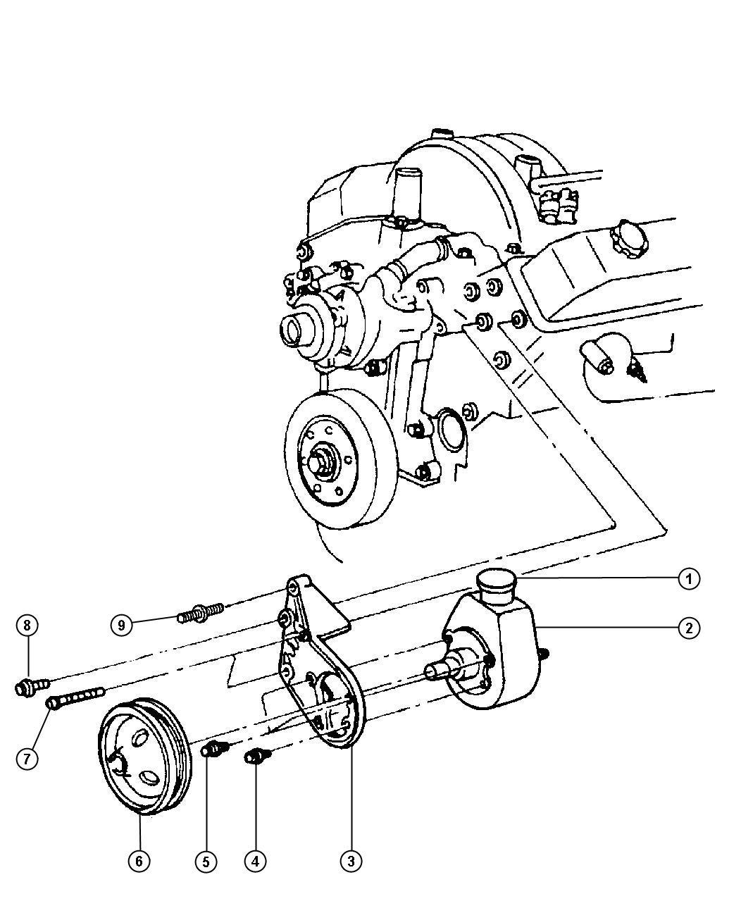 Dodge Ram Bracket Front Mounting Power Steering