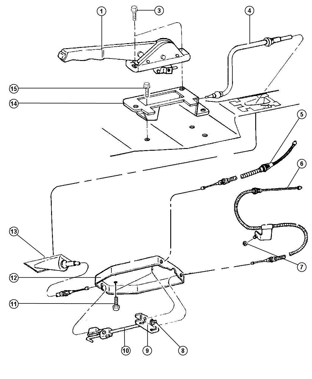 Dodge Dakota Equalizer Parking Brake Cable Equalizer