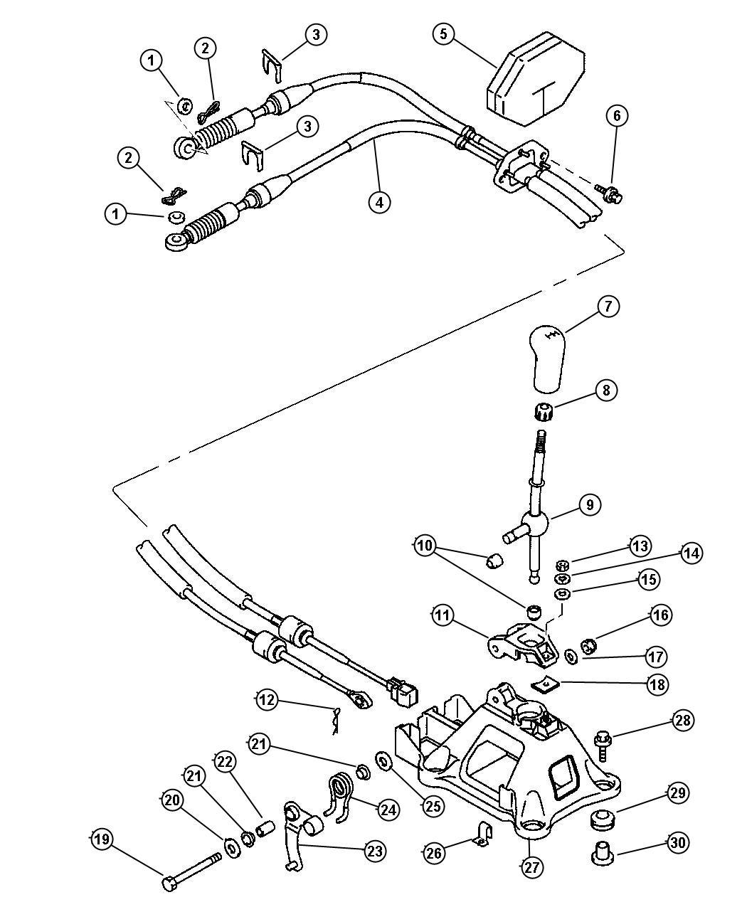Chrysler Sebring Transmission Shift Cable Repair
