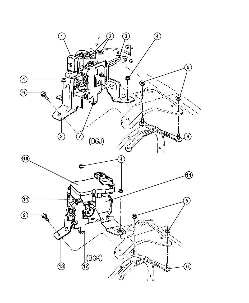 Dodge Ram Module Anti Lock Brakes Bgj R W A