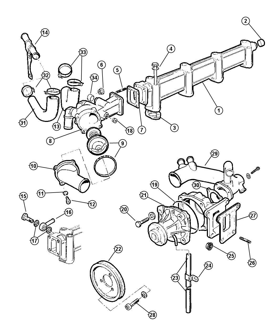 Dodge Ram Pulley Water Pump