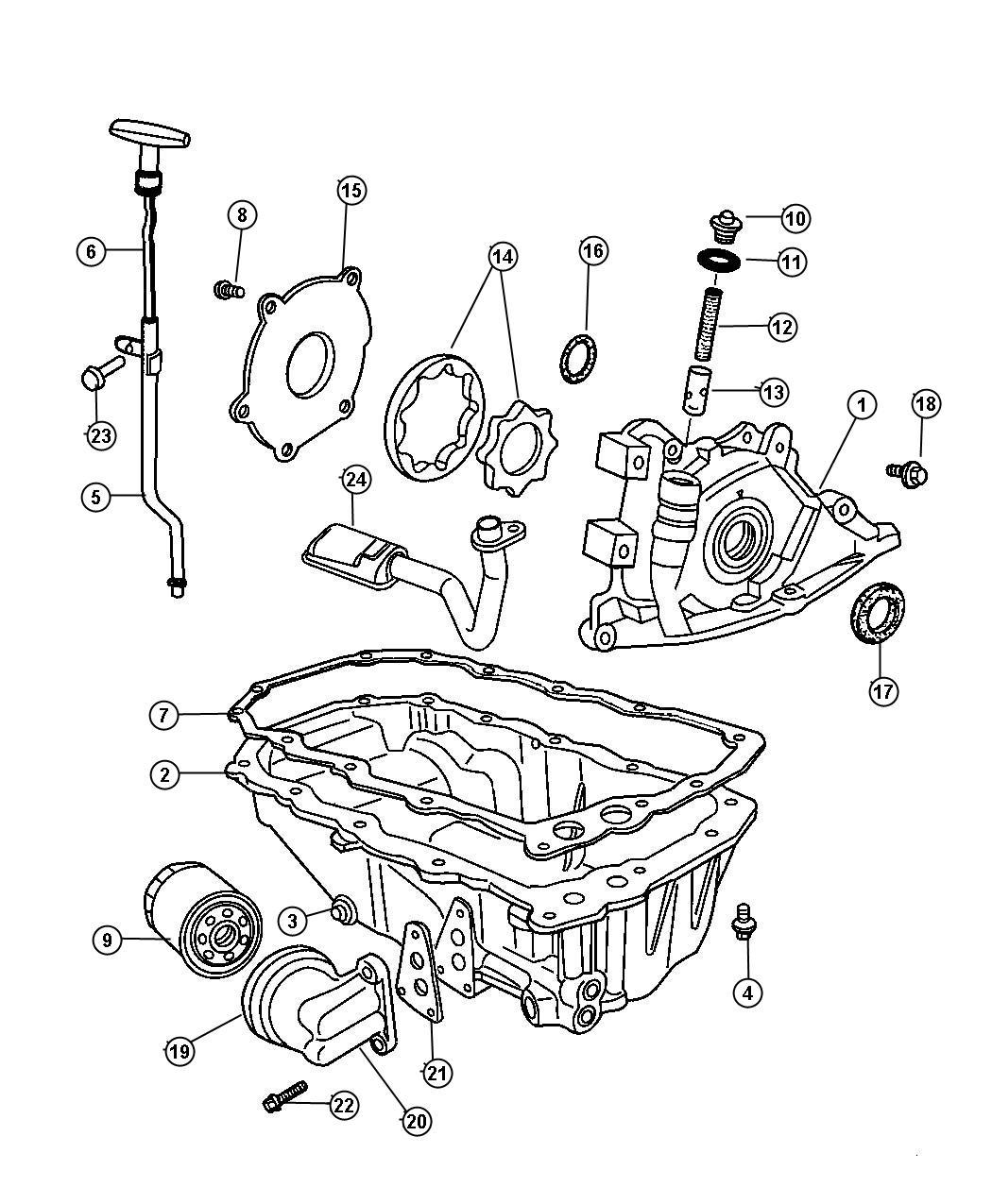 Engine Oiling 2 4l 4 Cyl Dohc 16v Mpi Edz