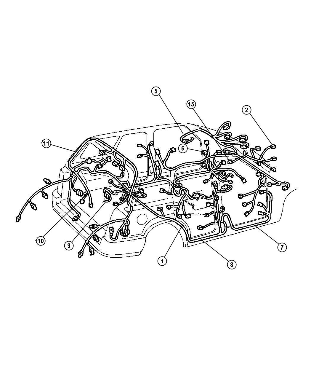 Jeep Liberty Adapter Converts 7 Way Round To 4 Way Flat