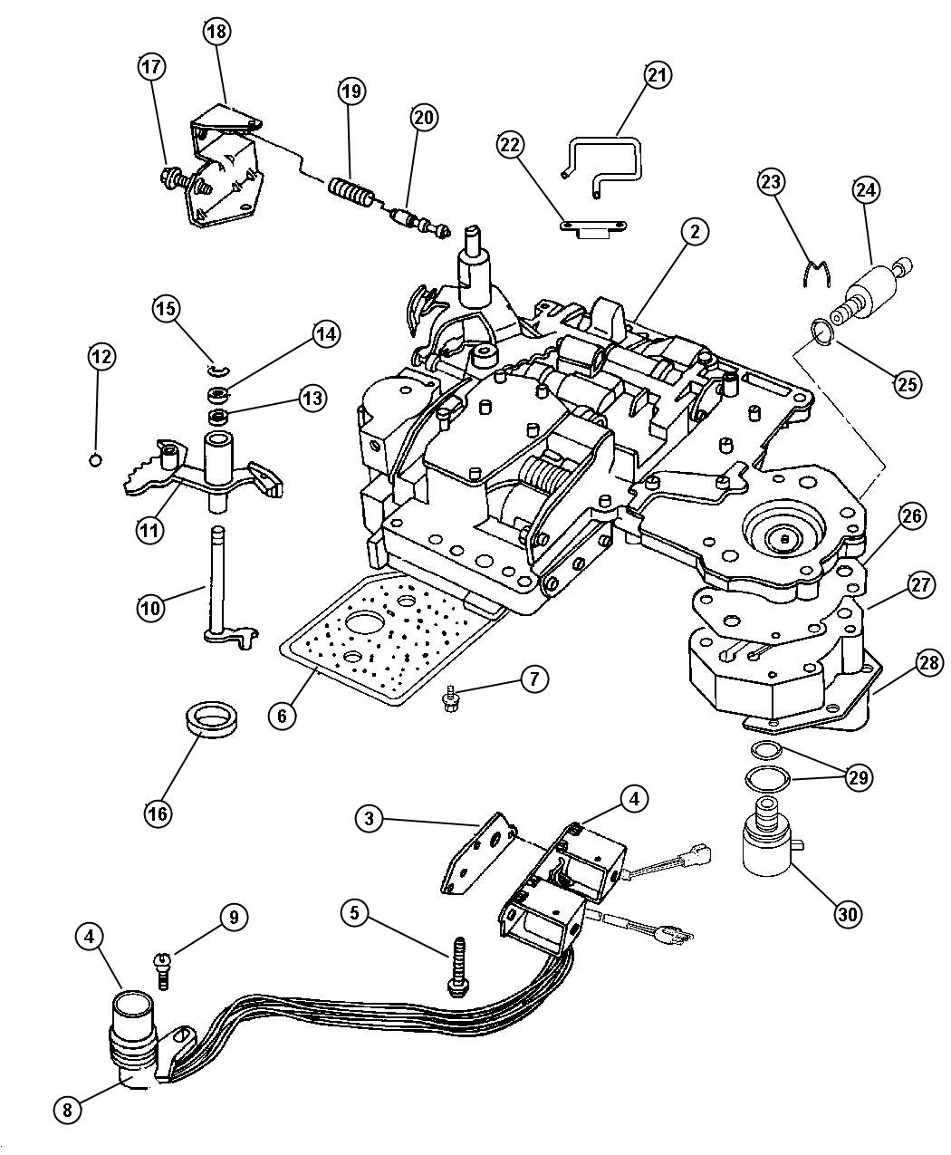 Dodge Durango R T Valve Body 46re Transmission