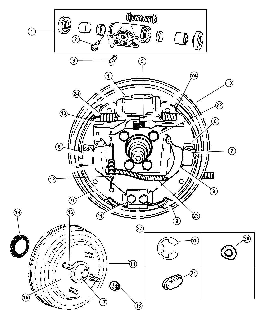Dodge Ram Lever Parking Brake Adjusting Right