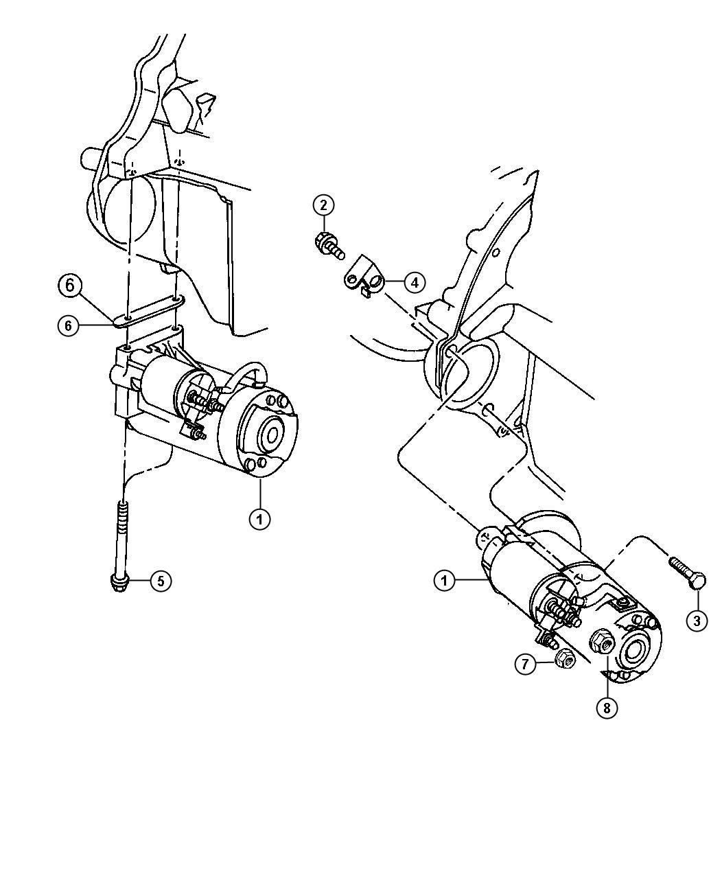 Jeep Starter Engine