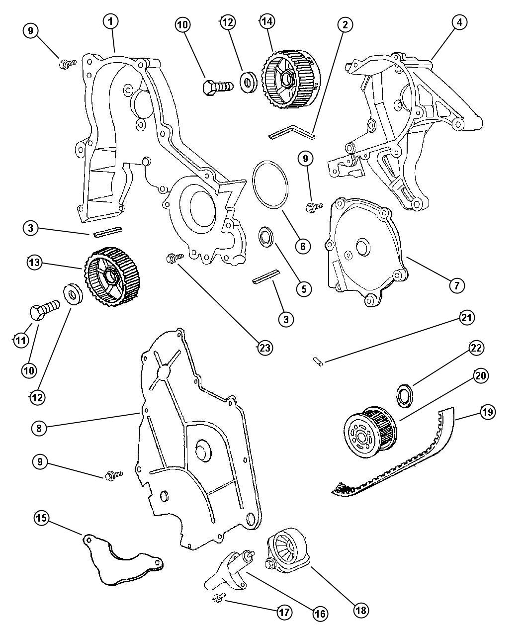 Chrysler Lhs Timing Chain Alignment Show Marks