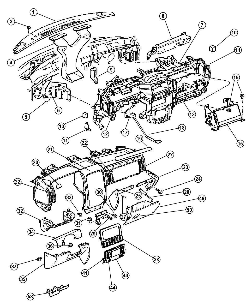 Jeep Grand Cherokee Latch Glovebox Door L5 Taupe