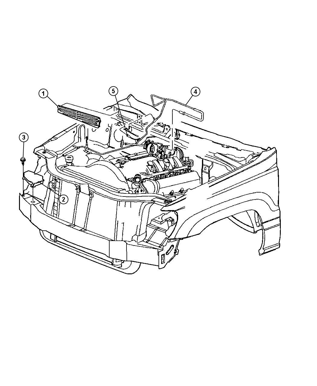 Jeep Grand Cherokee Sport Hevac Vacuum Engine Lines
