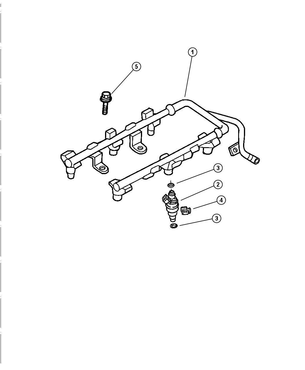 Chrysler Sebring Lx Fuel Rail 2 7l Engine Engine