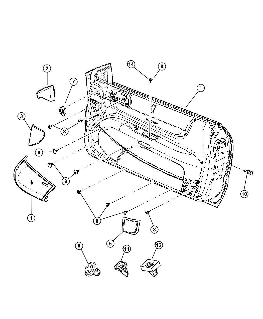 Chrysler Sebring Convertible Rear Embly Parts Diagram